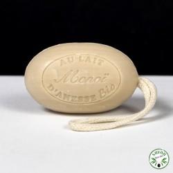 Savon corde au lait d'ânesse bio - Monoï - 200 gr