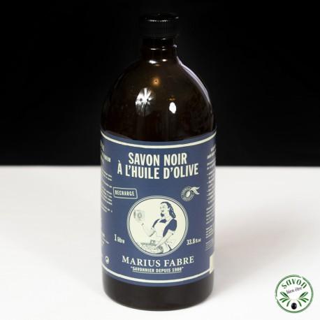 Savon noir liquide multi-usages huile d'olive - Marius Fabre - 1L