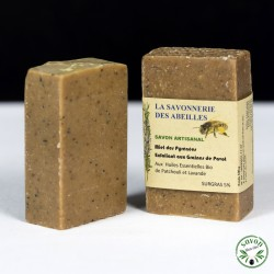 Savon au miel des Pyrénées exfoliant aux graines de pavot - 100g