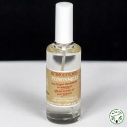 Anti-Moustiques à l'huile essentielle de Citronnelle - Vaporisateur 50 ml