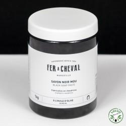 Savon Noir mou - Huile d'olive - Pot 1kg - Fer à Cheval