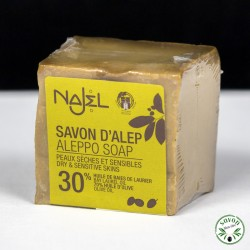 Savon d'Alep Najel 30% huile baie laurier 170g
