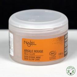 Argile rouge certifiée Cosmos Natural - 100% naturelle - Najel