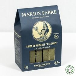 Savon de Marseille à la coupe à l'huile d'olive - 1kg - Marius Fabre