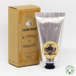 Crème main au beurre de karité et huile d'abricot