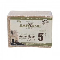 Savon d'Alep 5% huile baie laurier - Saryane - 200 gr