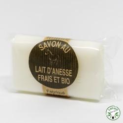 Savon au lait d'ânesse frais et bio enrichi au beurre de karité - Nature