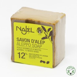 Savon d'Alep Najel 12% huile baie laurier 170g