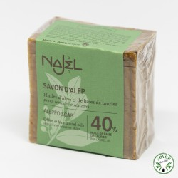 Savon d'Alep Najel 40% huile baie laurier 200 g