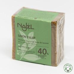 Savon d'Alep Najel 40% huile baie laurier 200 g