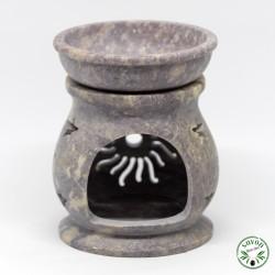 Brûle-parfum diffuseur d'arômes en stéatite pierre naturelle.