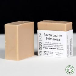 Savon Laurier Palmarosa certifié bio par Nature & Progrès - 100g