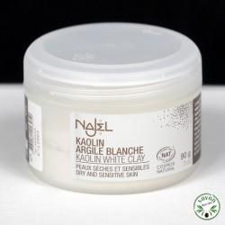 Argile blanche certifiée Cosmos Natural - 100% naturelle - Najel