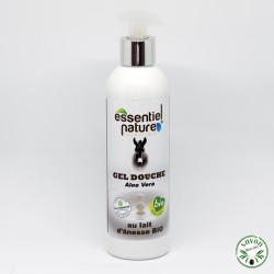 Gel douche au lait d'ânesse et Aloe vera certifié bio – 250 ml