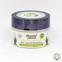 Crème visage hydratante bio à l'aloe vera, huile d'argan et propolis