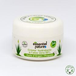 Crème hydratante corps certifiée bio à l'aloe vera, huile d'argan et propolis