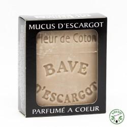 Savon au mucus ou bave d'escargot - Fleur de coton- 100 g