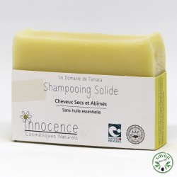 Shampooing solide bio - cheveux secs et abîmés - 100 gr