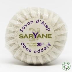 Savonnette d'Alep ronde 20% huile baie laurier - Saryane - 100 gr