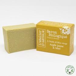 Savon à l'huile d'olive Bio - Argile jaune & miel