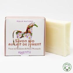 Savon 40% lait de jument frais et bio - Figue barbarie & Rose - Peau mature