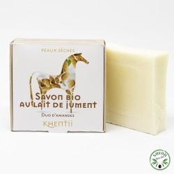 Savon 40% lait de jument frais et bio - Duo d'Amandes – Peau sèche