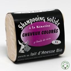 Shampooing solide au lait d'ânesse bio - Cheveux colorés
