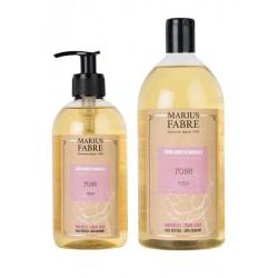 Pack savon liquide de Marseille - rose - Marius Fabre