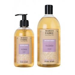 Pack savon liquide de Marseille - violette - Marius Fabre