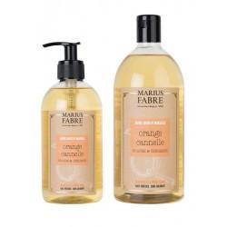 Pack savon liquide de Marseille - orange cannelle - Marius Fabre