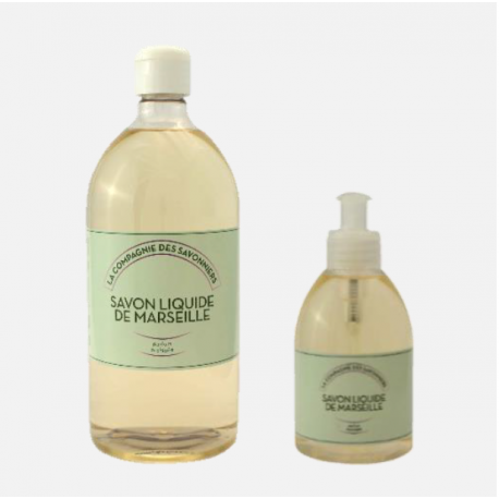 Pack savon liquide de Marseille à l'orchidée, hypoallergénique.
