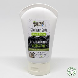 Dentifrice eau de coco bio et charbon végétal, arome menthe