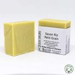 Savon Riz Petit-Grain certifié bio Nature & Progrès - 100g