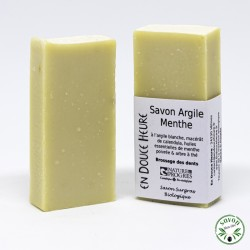 Dentifrice solide Argile Menthe certifié bio par Nature & Progrès