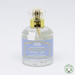 Brume d'oreiller, Coton Lin, Plaisir des Sens, 50 ml