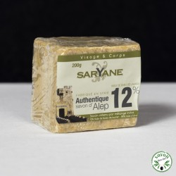Savon d'Alep 12% huile baie laurier - Saryane - 200 gr