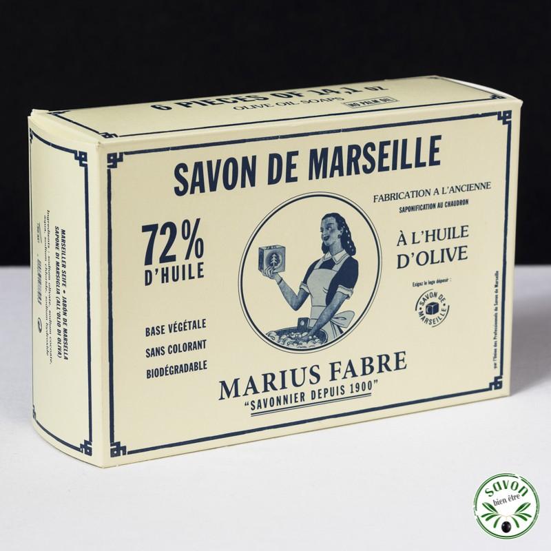 savon de marseille cubes 400g olive marius fabre pack de 6. Black Bedroom Furniture Sets. Home Design Ideas